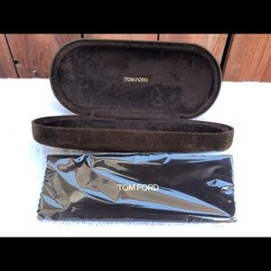 Tom Ford Brown Velvet Small Sunglasses Hard Case